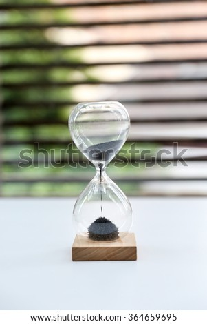 Hourglass Sands of Time Deadline - stock photo