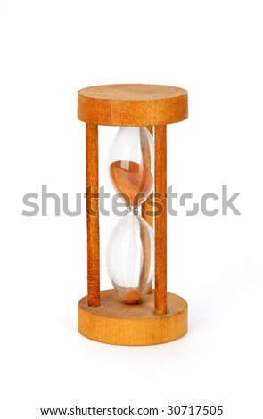 Hourglass (start), isolated with clipping path - stock photo