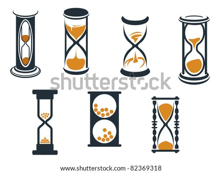 Hourglass symbols and icons for time concept and design, such a logo. Vector version also available in gallery