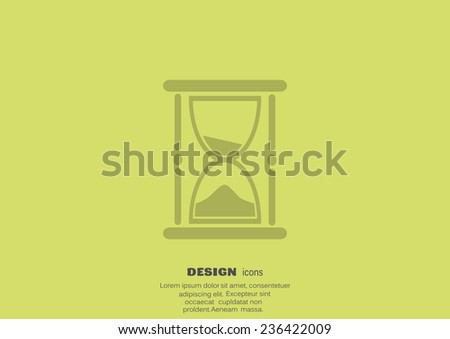 hourglass web icon.