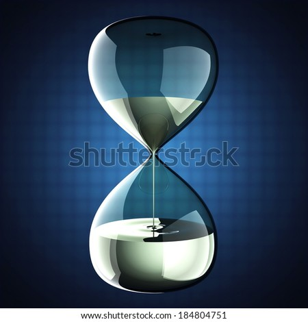 hourglass with dripping liquid - stock photo