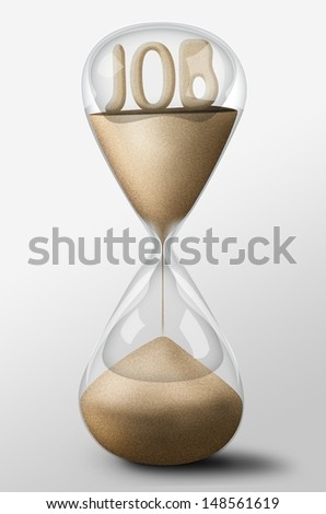 Hourglass with Job word made of sand inside the clock. Concept of uncertainty