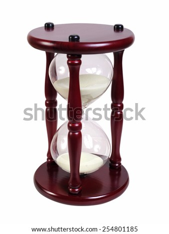 hourglasses on white background - stock photo