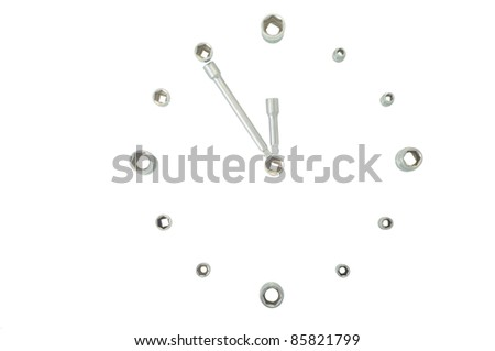 Hours from tools - stock photo