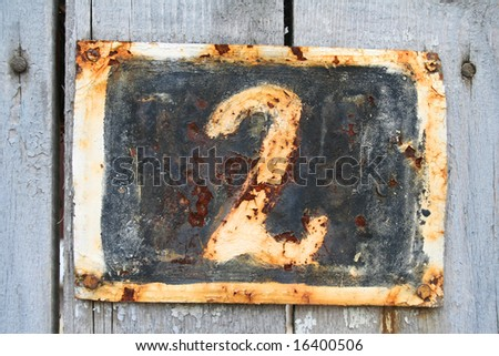 House address plate number 2 - stock photo