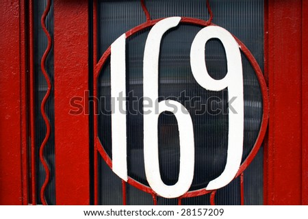 House address plate number - stock photo