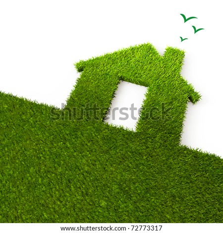 House and ecology - stock photo