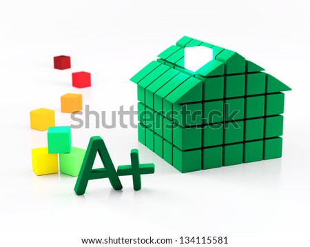 House and energy classification concept - stock photo