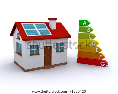 house and energy rating chart - stock photo