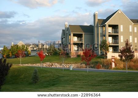 House and garden. - stock photo
