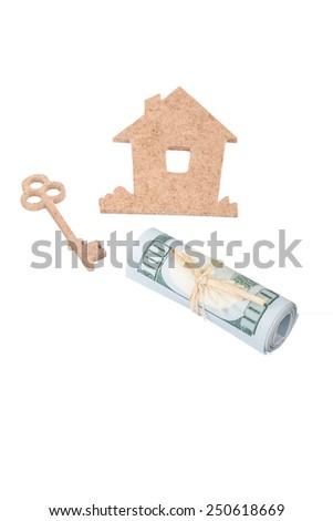 house and key - stock photo