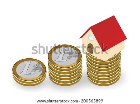 House and savings - stock photo
