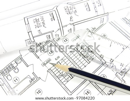 House architecture plan on paper