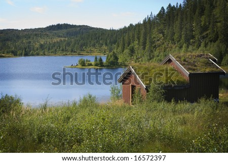 House at a lake in Norway