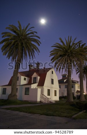 House at Crissy Field in San Francisco in the Moonlight - stock photo