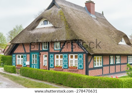 House at the Baltic Sea - stock photo