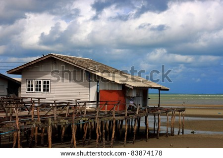 House at the beach - stock photo