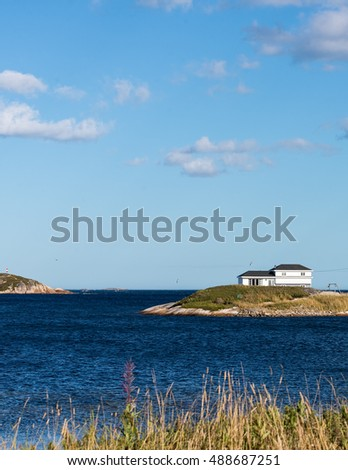 House at the sea shore