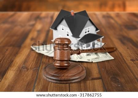 House Auction. - stock photo
