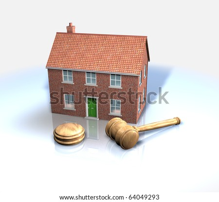 House auction and sales - stock photo