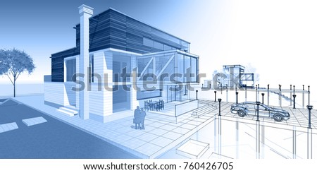 house building, 3d illustration