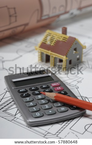 house building, financial real estate - stock photo