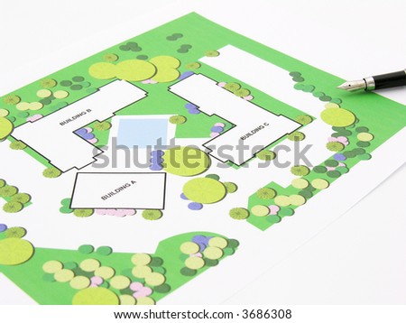 house / building plan - stock photo