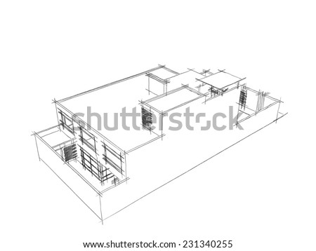 house building sketch