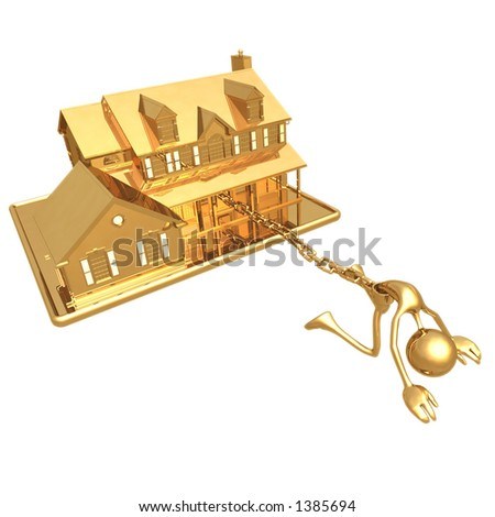 House Chained - stock photo