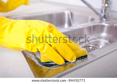 house cleaning - stock photo