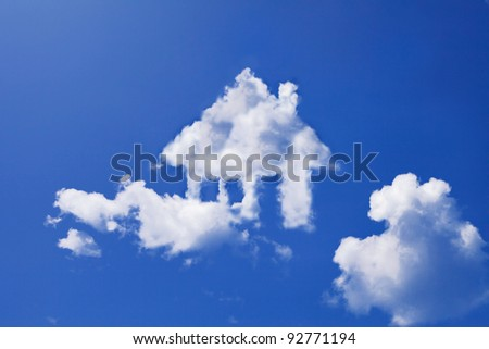house cloud form - stock photo