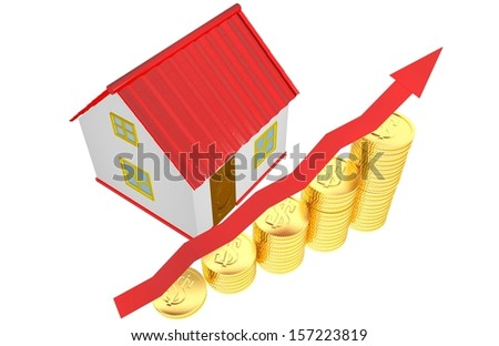 House coins success - stock photo