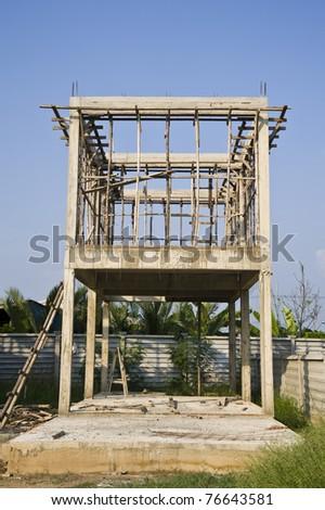 house construction - stock photo