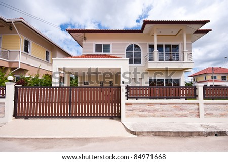 house construction - stock photo