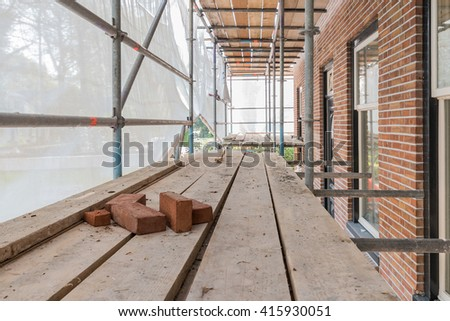 Residential House Construction Repair Renovation Using Stock Photo