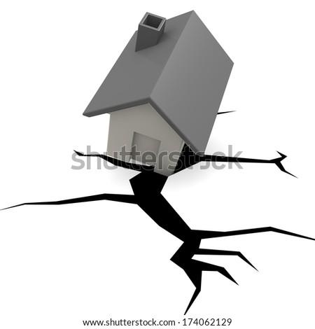 House crisis - stock photo