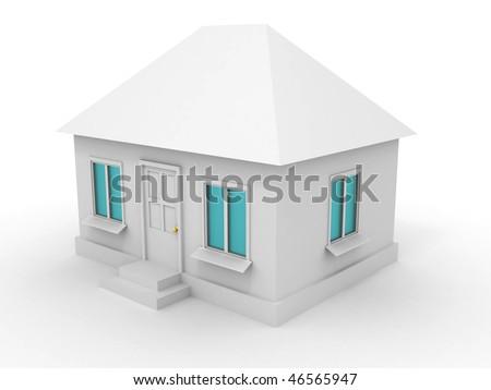 House. 3d - stock photo