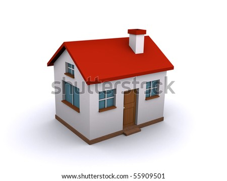 house 3d - stock photo