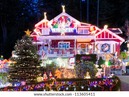 House Decorated For Christmas christmas decoration house stock images, royalty-free images