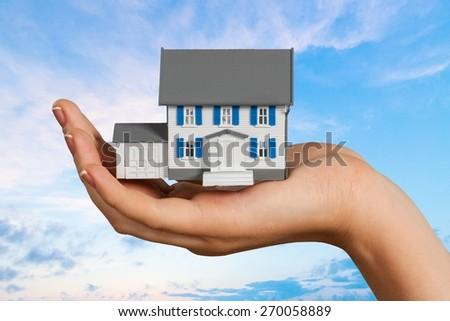 House, Domestic Life, Human Hand. - stock photo