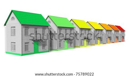 House energy efficiency concept - stock photo