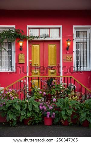 House entrance - stock photo