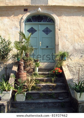 House entrance - stock photo