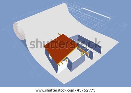 House family plan. - stock photo