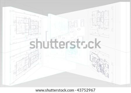 House family plan on white. - stock photo