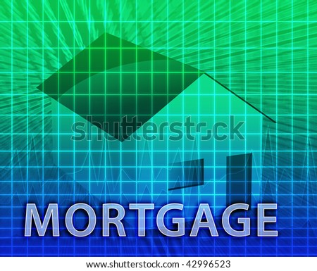 House financing digital collage illustration, subprime loan - stock photo