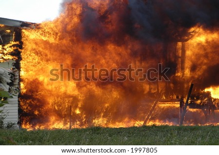house fire  out of control