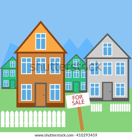 House For sale. House for rent. Illustration - stock photo
