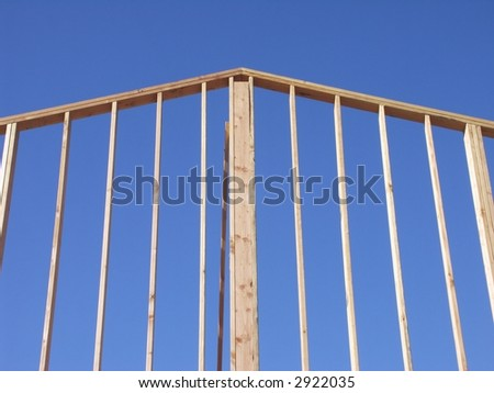 House frame on a blue sky. - stock photo