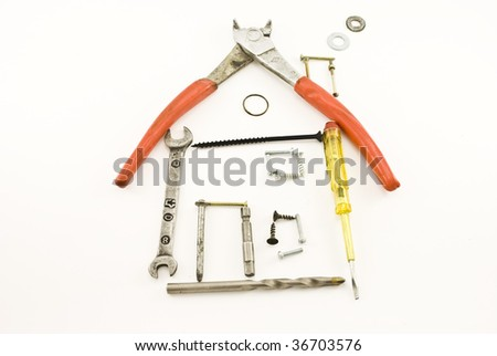 house from instrument - stock photo